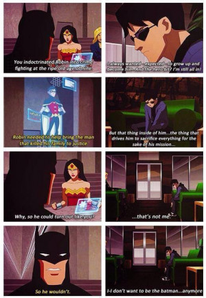 Batman Tells Wonder Woman Why He Decided To Push Robin Into Doing ...