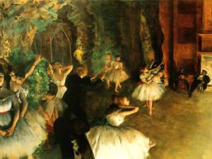 Edgar Degas Rehearsal On Stage
