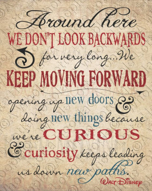 Walt Disney Quote Typography Print - Keep Moving Forward - Wall art…