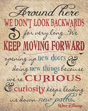 Walt Disney Quote Typography Print - Keep Moving Forward - Wall art…