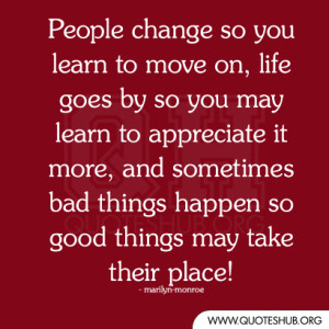... and sometimes bad things happen so good things may take their place