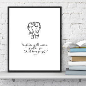 homepage > INDIEBERRIES > INSPIRATIONAL YOGA POSTER WITH RUMI QUOTE