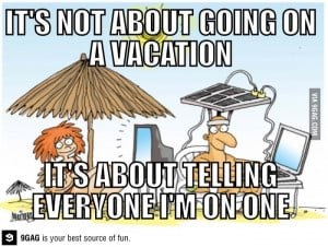 Going on vacation these days