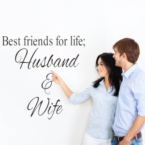 Best friends for life husband and wife art quote wall sticker wedding ...