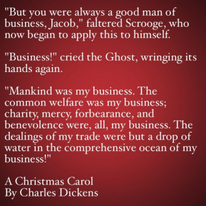 My Favorite Quotes from A Christmas Carol #18 – Mankind was my ...