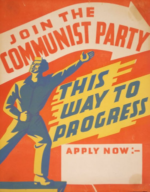 New Zealand's Communist party poster (1940s)