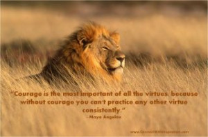 Lion sitting in tall grass, Courage, Dealing with Difficult Times