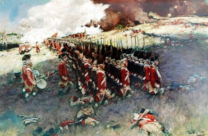 Howard Pyle. Redcoats assault Bunker Hill (Breed's Hill), 17 June 1775 ...