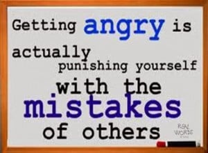 ... Actually Punishing Yourself With The Mistakes Of Others - Anger Quote