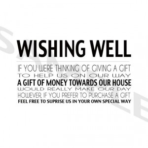 Modern Wedding Wishing Well RSVP Stationery in Black and White ...