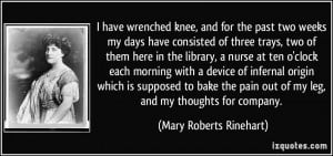 More Mary Roberts Rinehart Quotes