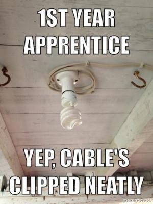 1st year apprentise be like