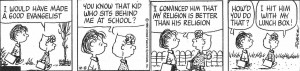 Peanuts Comics on Christianity.