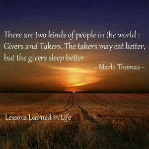 Givers and Takers....Marlo Thomas