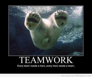 Teamwork Every Team Needs A Hero, Every Hero Needs A Team.