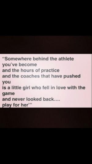 an athlete's life.