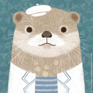 Mr. Otter | flora chang, Happy Doodle LandIllustrationer Animal, Happy ...