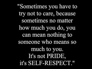 Self respect picture quotes image sayings
