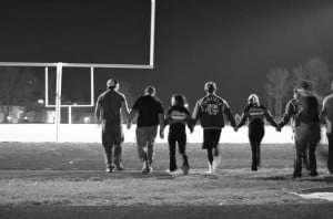 Senior night and last football game for cheerleaders and football ...