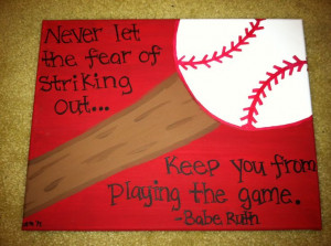 Baseball or Softball Canvas Quote (Made to order) 11x14. $12.00, via ...