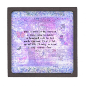 RUMI LOVE QUOTE secret sky poem Premium Gift Box