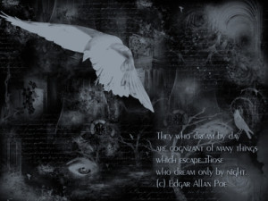poe Black dark gothic Grey mystery poem poet quotes white HD Wallpaper ...