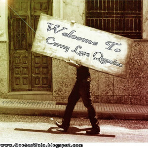 Welcome to Corny Love Quotes