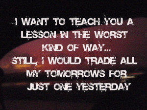 Fall Out Boy Song Quotes Just One Yesterday Just one yesterday - fall ...
