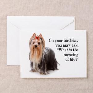 Funny Yorkie Birthday Card