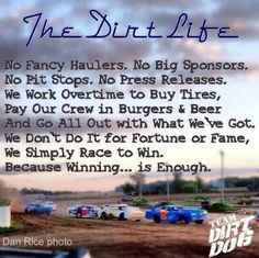 DIRT LIFE - Yes I am one of those dirt track racing people tshirts