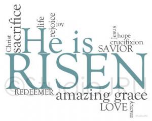 Inspirational Art, He is Risen, Easter, 8 x 10 Fine Art Print