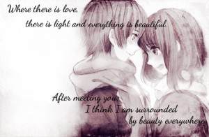 Cute love quote with a cute anime couple. ♥ 10 pts
