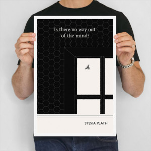 Literary Poster, Sylvia Plath Illustration Quote Geometric Art Print ...