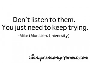 ... quote is so little mikey monsters monsters university quotes monsters