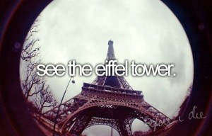 eiffel tower, paris, quote, travel
