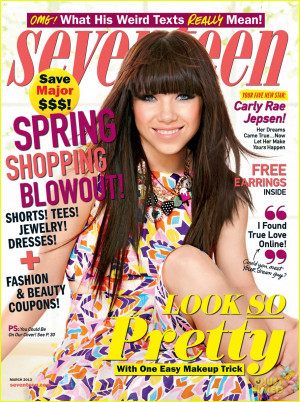 carly rae jepsen colors seventeen magazine march 2013 02