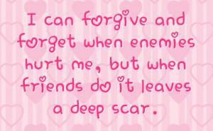 Friendship Hurt Facebook Status On Hearts Background