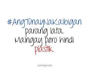 Plastic Quotes Tagalog. QuotesGram
