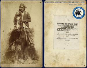 Original 1886 Geronimo Cabinet card.