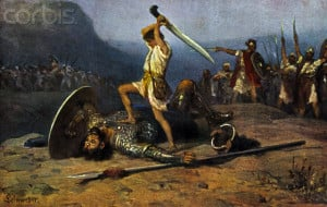 David's decisive victory over Goliath was a type and shadow of Jesus ...