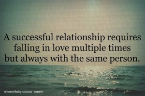 ... falling in love multiple times but always with the same person