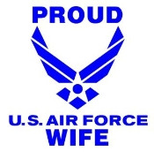 Proud Air Force Wife Decal Sticker