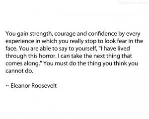 Eleanor Roosevelt...