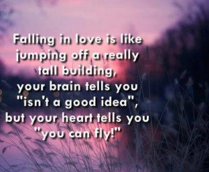 Romantic quotes, sayings, falling in love, i can fly