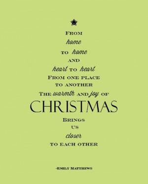 Christmas Tree Poem Printable