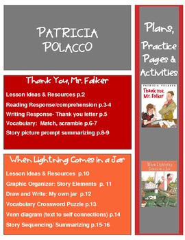 Patricia Polacco Thank You Mr Falker And When Lightning Comes In A Jar ...