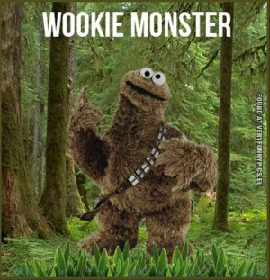 Funny Picture - Wookie monster