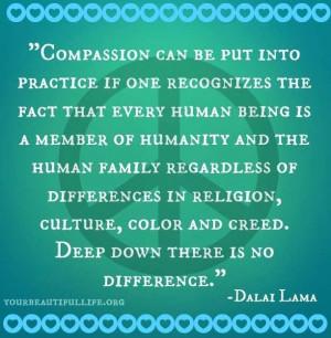 Dalai Lama on tolerance and compassion