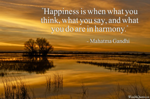 Mahatma Gandhi Quotes – Happiness and harmony | Image