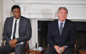 Michelle Obama said that '42' star Chadwick Boseman, joined here ...